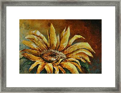 Sunflower Study Framed Print by Michael Lang