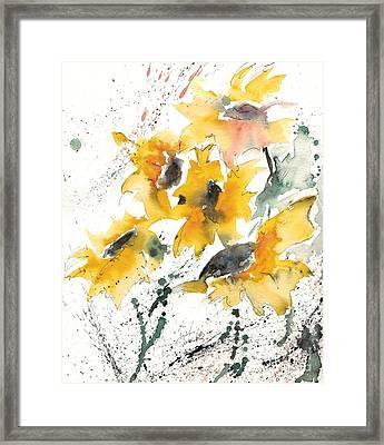Sunflowers 10 Framed Print by Ismeta Gruenwald