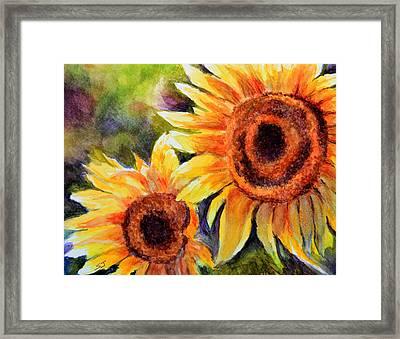 Sunflowers 2 Framed Print by Susan Jenkins