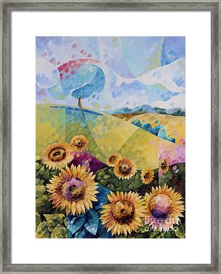 Sunflowers Framed Print by Beatrice BEDEUR