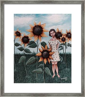 Sunflowers Framed Print by Graciela Bello