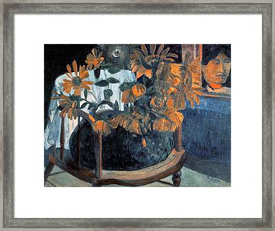 Sunflowers Framed Print by Paul Gauguin