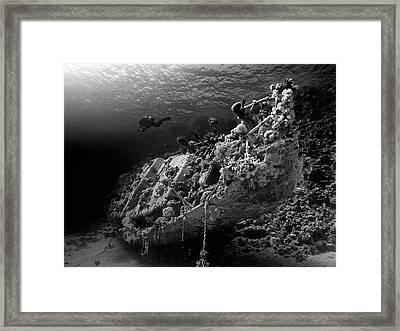Sunken Yacht Of Abu Galawa Framed Print by Henry Jager