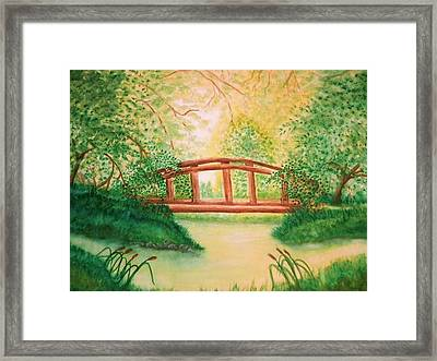 Sunlight And Serenity Framed Print by Nan Hand