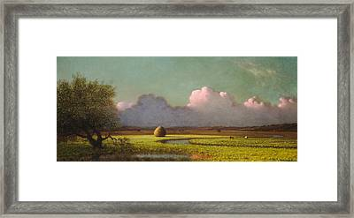 Sunlight And Shadow The Newbury Marshes Framed Print by Martin Johnson Heade