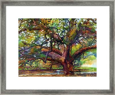 Sunlit Century Tree Framed Print by Hailey E Herrera