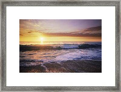 Sunlit Wave Framed Print by Peter French - Printscapes