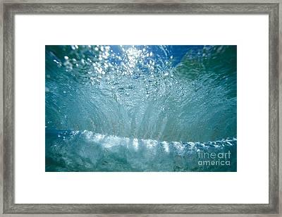 Sunlit Wave Framed Print by Vince Cavataio - Printscapes