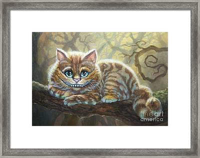 Sunny Cheshire Cat Framed Print by Irina Effa