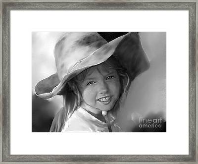 Sunny Day With Pony Framed Print by Donna Aloia