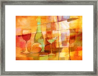 Sunny Dining Framed Print by Lutz Baar