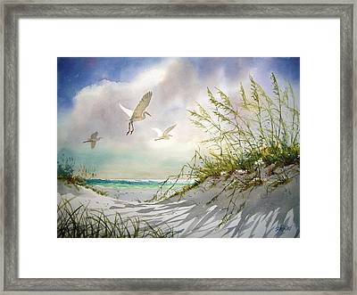 Sunny Dune Framed Print by Tom  Bond