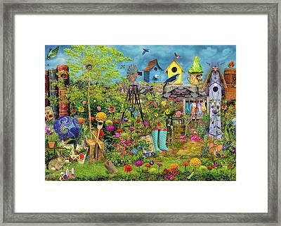 Sunny Garden Delight Framed Print by Aimee Stewart