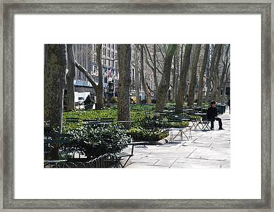 Sunny Morning In The Park Framed Print by Rob Hans