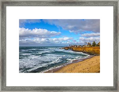 Sunny Sunset Cliffs Framed Print by Peter Tellone