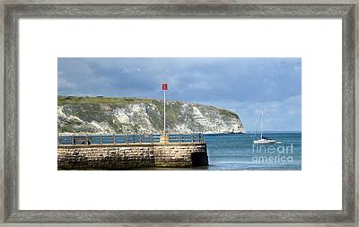 Sunny Swanage Dorset Uk Framed Print by Linsey Williams