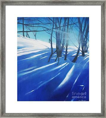 Sunny Traintrip To Hamar Framed Print by Lin Petershagen