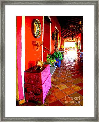 Sunny Veranda By Darian Day Framed Print by Mexicolors Art Photography