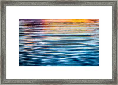 Sunrise Abstract On Calm Waters Framed Print by Parker Cunningham