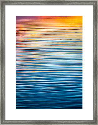 Sunrise Abstract  Framed Print by Parker Cunningham