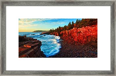 Sunrise At Acadia Panorama Framed Print by Bill Caldwell -        ABeautifulSky Photography