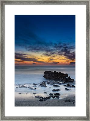 Sunrise At Coral Cove Park In Jupiter Vertical Framed Print by Andres Leon