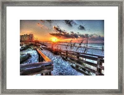 Sunrise At Cotton Bayou  Framed Print by Michael Thomas