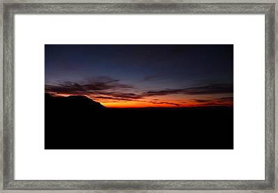 Sunrise At Hole-in-the-wall Framed Print by Joel Deutsch