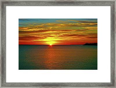 Sunrise At Matane Framed Print by Juergen Weiss