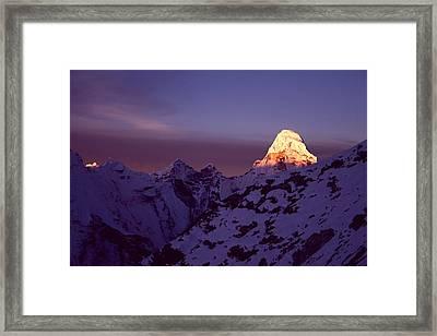 Sunrise At Mt. Ama Dablam Framed Print by Pal Teravagimov Photography
