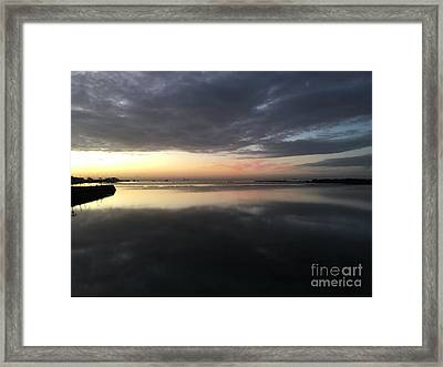 Sunrise At Panglao Bay Framed Print by Kay Novy