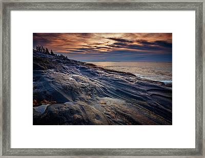 Sunrise At Pemaquid Point Framed Print by Rick Berk