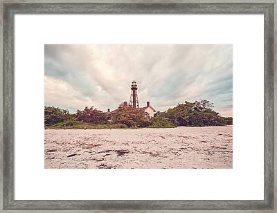 Sunrise At Sanibel Lighthouse Framed Print by Scott Pellegrin
