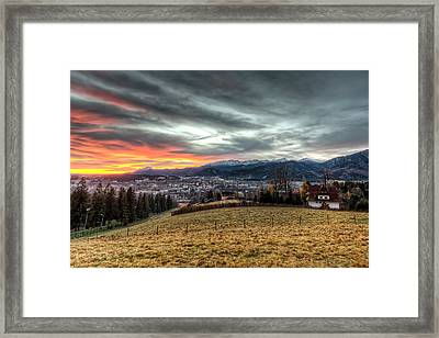 Sunrise At Tatra Mountains - Zakopane Framed Print by Nico Trinkhaus
