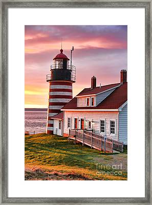 Sunrise At West Quoddy Head Framed Print by Jack Schultz
