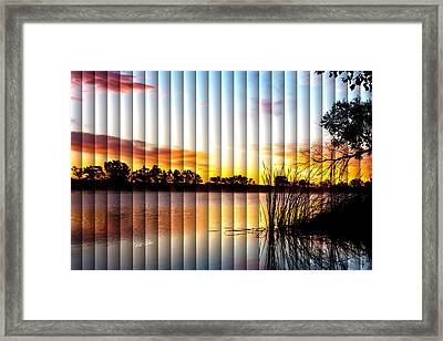 Sunrise Brady - The Slat Collection Framed Print by Bill Kesler