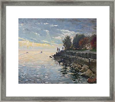 Sunrise Fishing Framed Print by Ylli Haruni