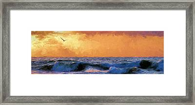 Sunrise Flight In Destin Framed Print by JC Findley