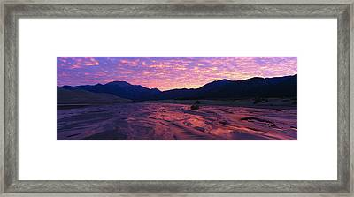 Sunrise Great Sand Dunes National Framed Print by Panoramic Images