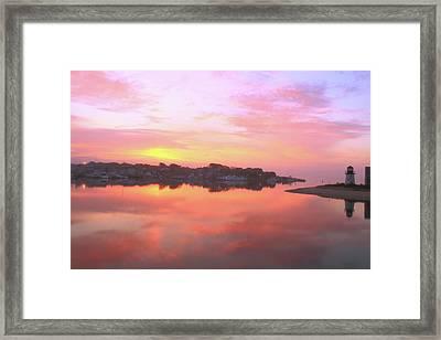 Sunrise Hyannis Harbor Framed Print by Roupen  Baker
