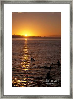 Sunrise In Capitola Framed Print by Stan and Anne Foster