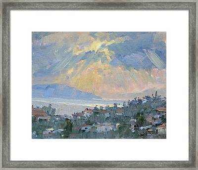 Sunrise In Dhilesi Athens  Framed Print by Ylli Haruni