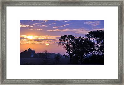 Sunrise In Indiana Framed Print by Brittany H