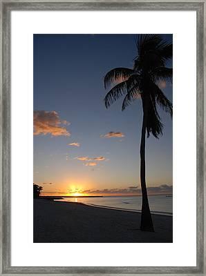 Sunrise In Key West 2 Framed Print by Susanne Van Hulst