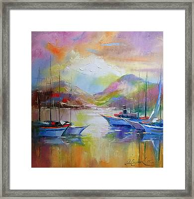 Sunrise In The Bay Framed Print by Olha Darchuk