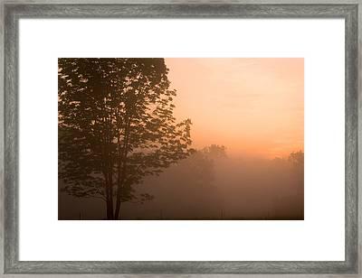 Sunrise In The Country Framed Print by Amanda Kiplinger