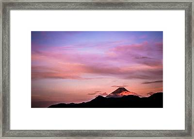 Sunrise In The Mountains Framed Print by Shelby Young
