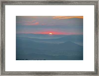 Sunrise In The Shenandoah Moutains Virginia Framed Print by Bill Cannon