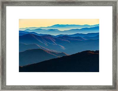 Sunrise In The Smokies Framed Print by Rick Berk