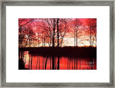 Sunrise Lake Norman North Carolina Framed Print by Kim Fearheiley